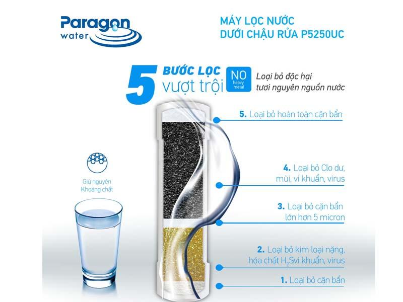Cấu tạo máy lọc nước P5250 Paragon